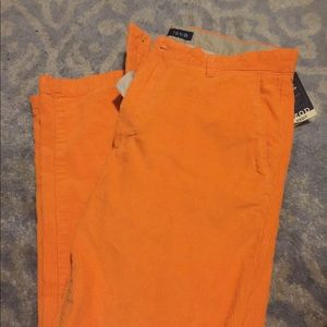 IZOD  orange corduroy  pants NEW WITH TAGS